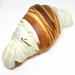 Croissant chocolate blanco